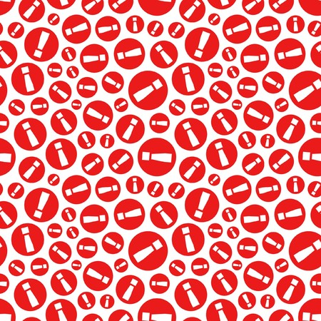Seamless background with exclamation signs. Vector