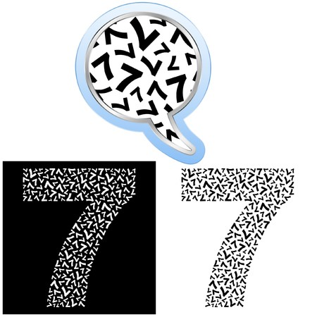 seventh: Seven. Number signs.