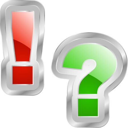 questioner: Exclamation and question elements.