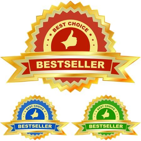genuine good: Bestseller emblem set Illustration