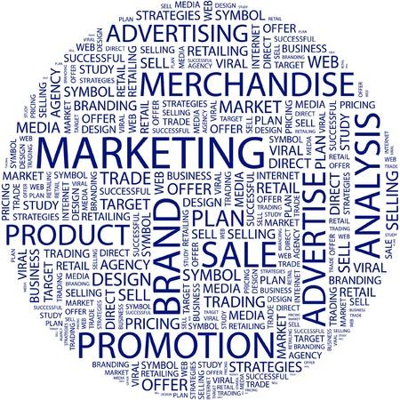 retailing: MARKETING. Word collage on white background.