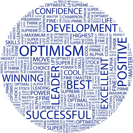 OPTIMISM. Word collage on white background. Stock Vector - 7031204