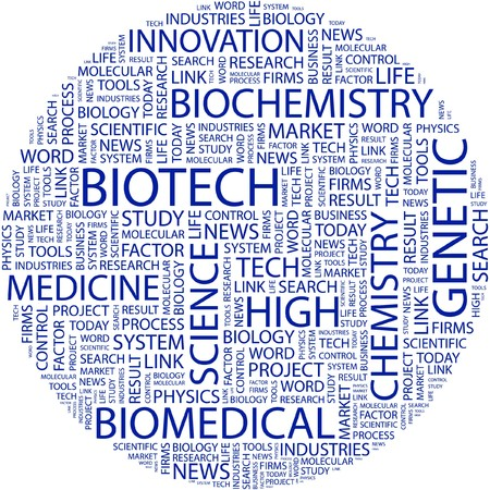 BIOTECH. Word collage on white background. Stock Vector - 7031309