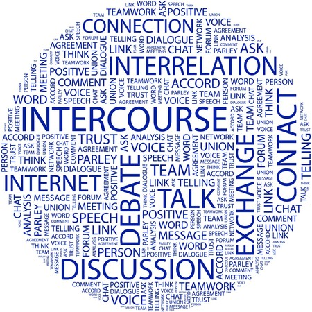 INTERCOURSE. Word collage on white background. Stock Vector - 7031201