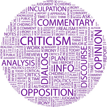 CRITICISM. Word collage on white background. Stock Vector - 7031261