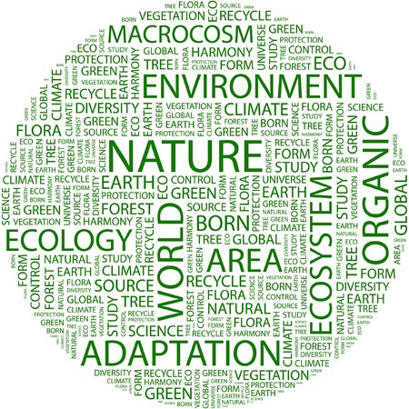 NATURE. Word collage on white background.  Vector