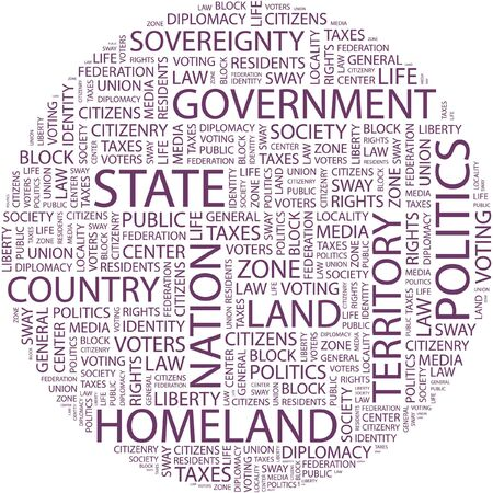 STATE. Word collage on white background.  Vector