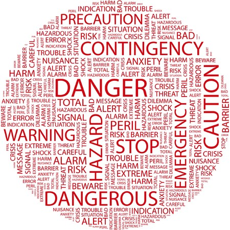 DANGER. Word collage on white background. Stock Vector - 7031906