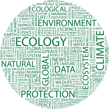 ECOLOGY. Word collage on white background.  Stock Vector - 7031460