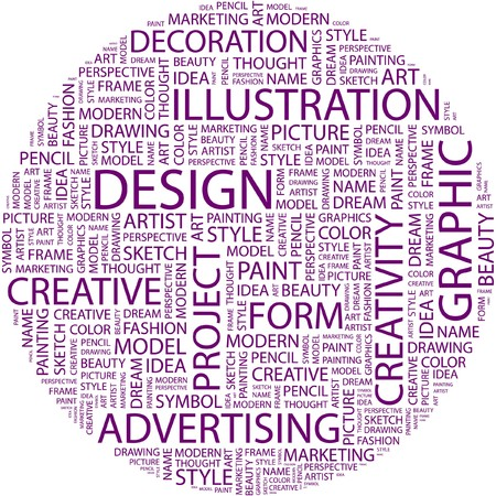 DESIGN. Word collage on white background.  Stock Vector - 7031726