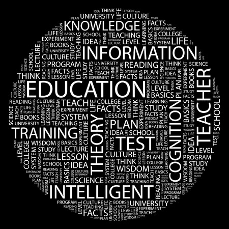 EDUCATION. Word collage on black background. Stock Vector - 7031451