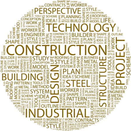 CONSTRUCTION. Word collage on white background.  Vector