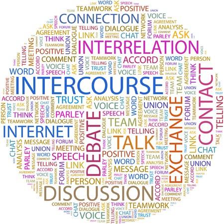 converse: GESCHLECHTSVERKEHR. Word-Collage auf wei�em Hintergrund