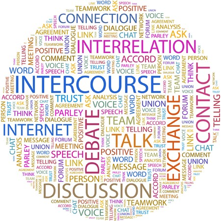 INTERCOURSE. Word collage on white background Stock Vector - 7066449