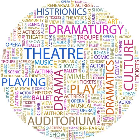 THEATRE. Word collage on white background.
