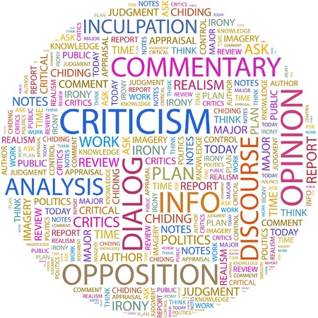 CRITICISM. Word collage on white background. Stock Vector - 7066493