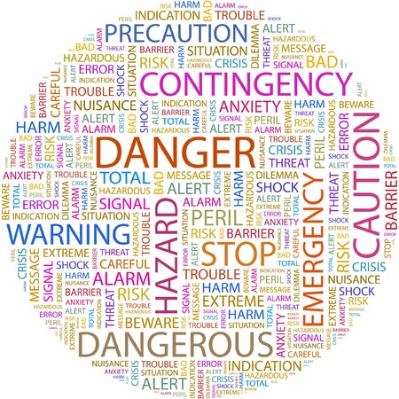 DANGER. Word collage on white background. Stock Vector - 7066771