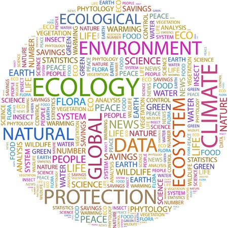 phytology: ECOLOGY. Word collage on white background.