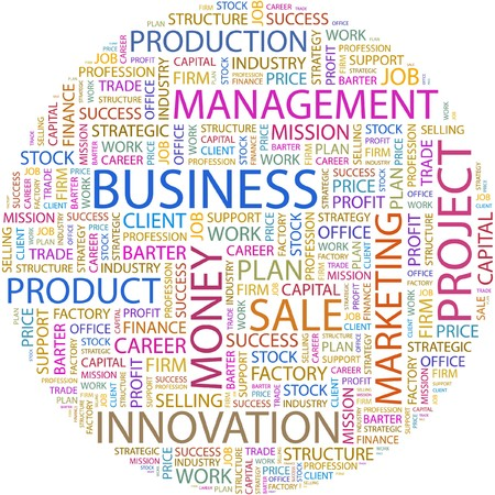 barter: BUSINESS. Word collage on white background.