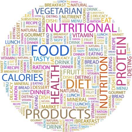 퓌레: FOOD. Word collage on white background. 일러스트