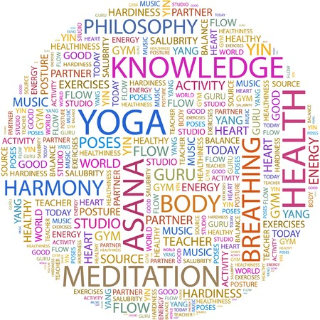 YOGA. Word collage on white background. Stock Vector - 7066727
