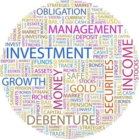 fondos violeta: INVERSIÓN. Palabra collage sobre fondo blanco.  Vectores