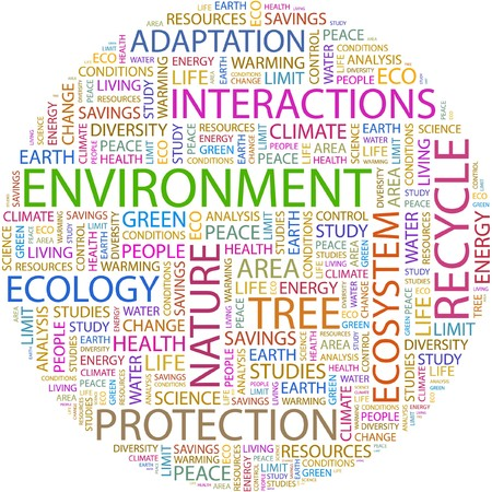 ENVIRONMENT. Word collage on white background. Stock Vector - 7066446