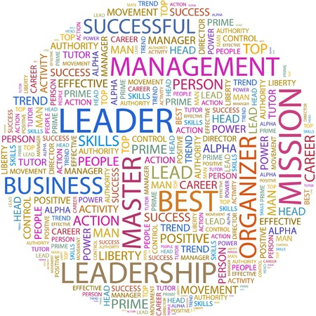 LEADER. Word collage on white background. Stock Vector - 7066494