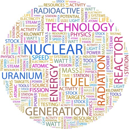 NUCLEAR. Word collage on white background. Stock Vector - 7066457