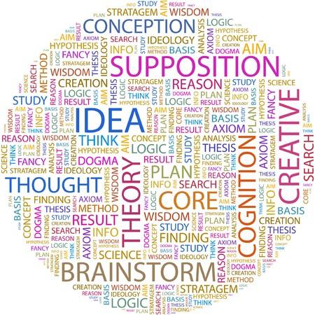 theorem: IDEA. Word collage on white background.