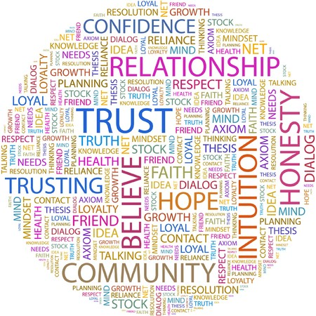 TRUST. Word collage on white background. Stock Vector - 7066454