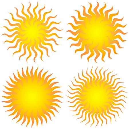 sol: Sunburst abstract.