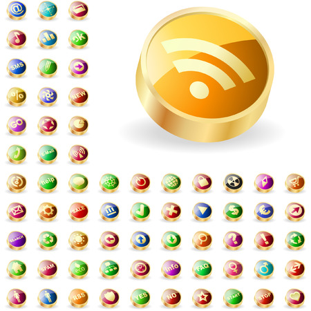 great collection of web buttons. Vector
