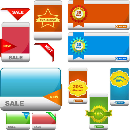 set of sale banner   Stock Vector - 7066835