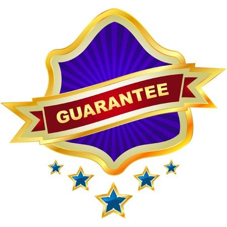 guaranree: guarantee label.   Illustration