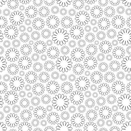 Seamless background with flowers.   Vector