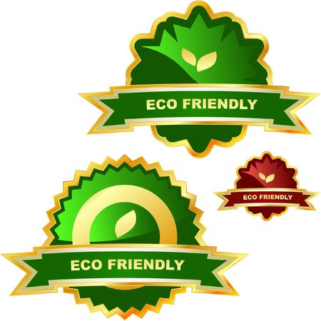 Set of eco labels. Stock Vector - 7093910