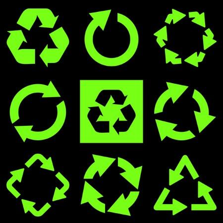 arow: Recycle symbol.