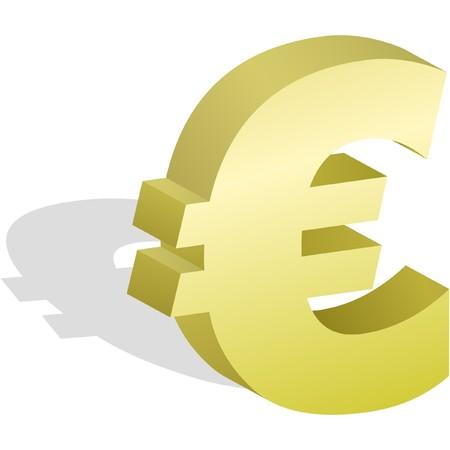 euro teken: Euro symbool. illustratie