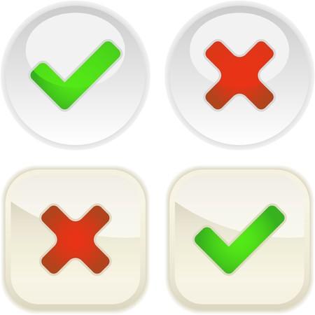 preferencia: Botones aprobados y rechazados.