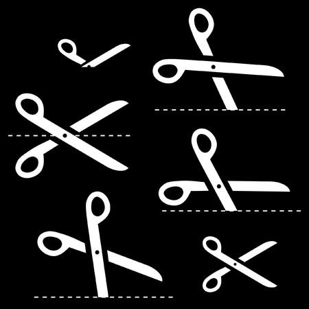scissors with cut lines Stock Vector - 7128572