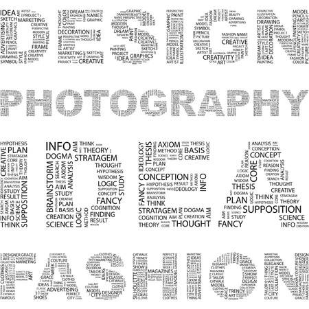target thinking: DISE�O. Palabra collage sobre fondo blanco. ilustraci�n.