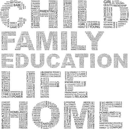 minor: CHILD. Word collage on white background.illustration.    Illustration