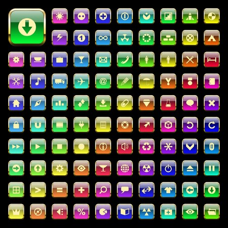collection of web buttons. Vector