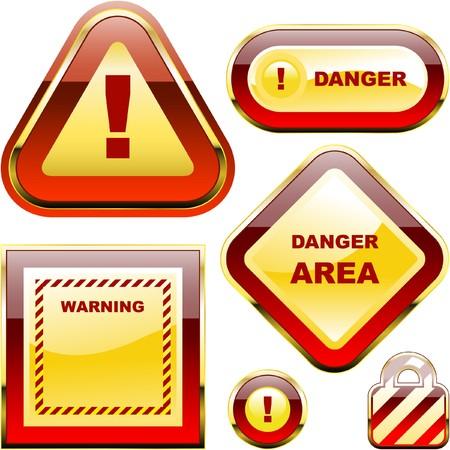 hazardous area sign: Etiqueta de advertencia.