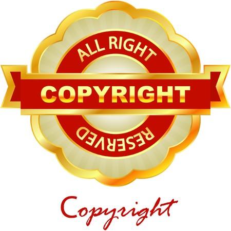 procent: copyright label for sale.   Illustration