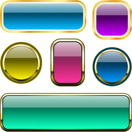 beautiful button set Vector