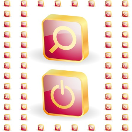 collection of web buttons Stock Vector - 7170204