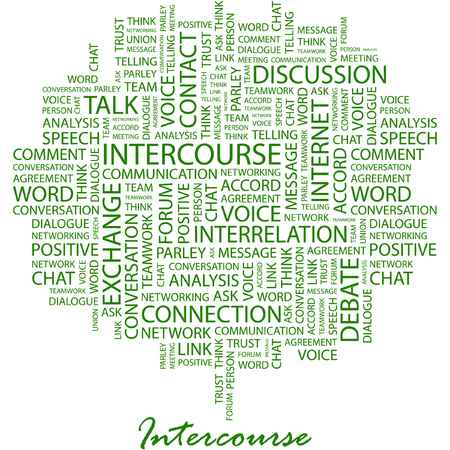 INTERCOURSE. Illustration with different association terms in white background. Stock Vector - 7170214