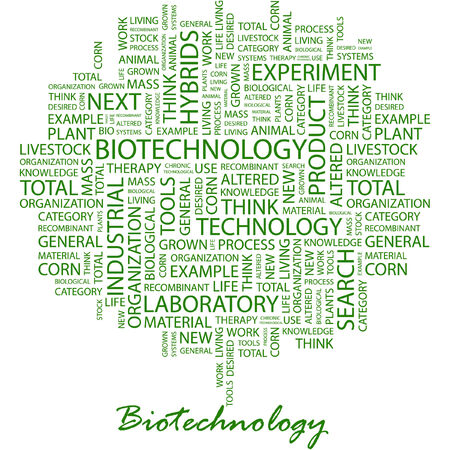 BIOTECHNOLOGY. Illustration with different association terms in white background. Stock Vector - 7170354